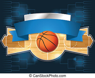 A vector illustration of a basketball tournament concept. Vector EPS 10 file available. EPS file contains transparencies and is layered.