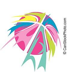 Basketball Tribal Colorful