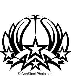 Basketball Vector Graphic Template