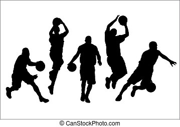 Vector illustration of basketball players