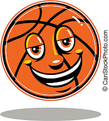 basketball with cute face