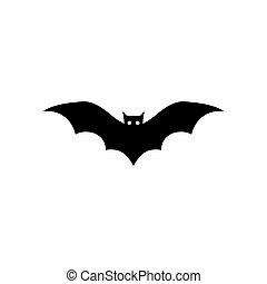 bat vector icon logo template design