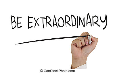 Be Extraordinary, Concept Typography