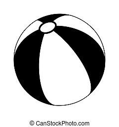 beach ball silhouette vector symbol icon design.