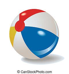 vector inflatable beach ball