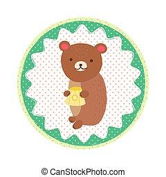 Bear badge emblem