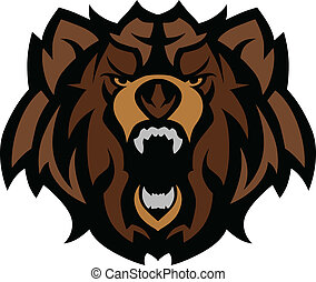 Graphic Mascot Image of a Black Bear Head
