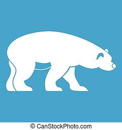 Bear icon white