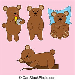 Bear in cartoon style. Cute vector illustration
