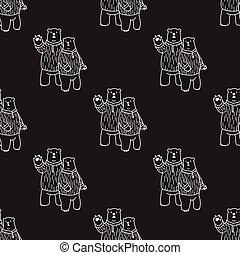 Bear Seamless Pattern polar bear vector hello isolated repeat wallpaper tile background illustration cartoon