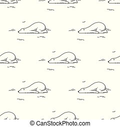 bear Seamless Pattern polar vector sleeping isolated repeat wallpaper background