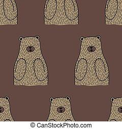 bear vector polar bear seamless pattern isolated repeat wallpaper tile background