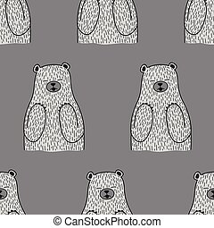 bear vector polar bear seamless pattern isolated wallpaper tile background