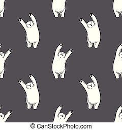 Bear vector Seamless Pattern polar bear isolated repeat wallpaper tile background illustration cartoon