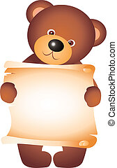 teddy bear isolated on white background. Vector