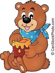 Bear with honey theme image 1