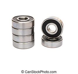 bearings on white background with clipping path