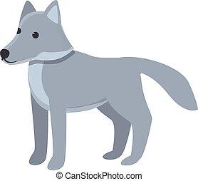 Beast wolf icon, cartoon style