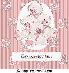 Beautiful card with bears