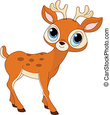 Illustration of beautiful cartoon deer