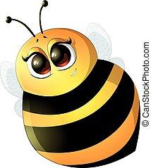 Beautiful cute bee
