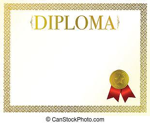 beautiful diploma ready to be customize