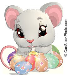 beautiful Easter mouse