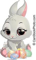 beautiful Easter rabbit