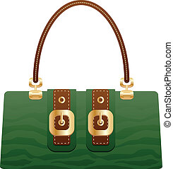 beautiful handbag purse on the white back ground