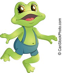 Beautiful humanoid frog