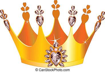 Illustration of beautiful gold tiara