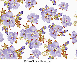 Beautiful vector floral pattern for