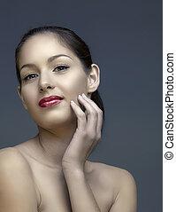 beautiful woman with natural make-up