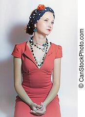 beautiful young woman in headscarf