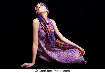 Beautiful young woman in sundress