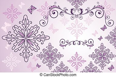 Beauty floral background