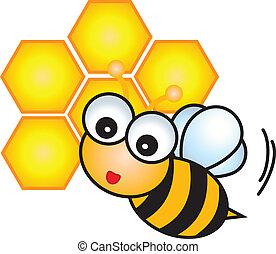 Bee Cartoon vector , eps10