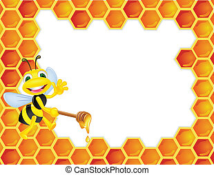 Vector illustration of bee cartoon