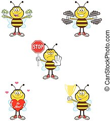 Bee Character 2. Collection Set