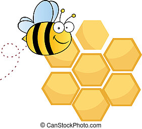 Bee Cute Cartoon Character