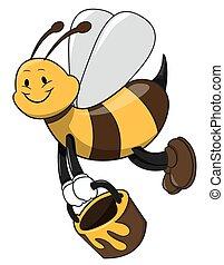 Bee holding honey
