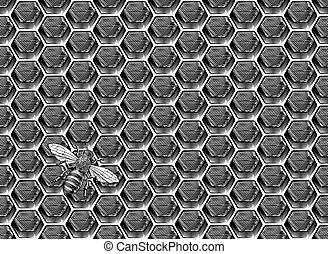 Bee Honeycomb Pattern Background Honey Drawing