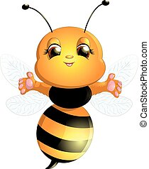 bee on a white background