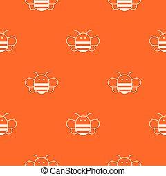 Bee pattern vector orange