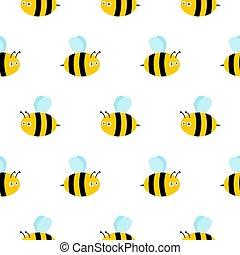 bee seamless pattern. Vector cute cartoon bee seamless pattern background. honey vector.