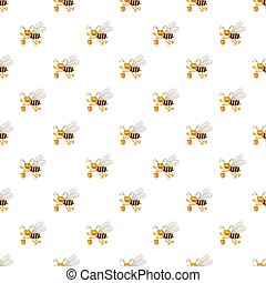 Bee with bucket of honey pattern