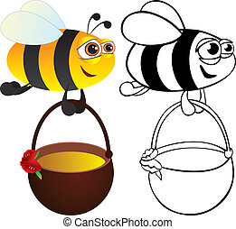Bee with honey