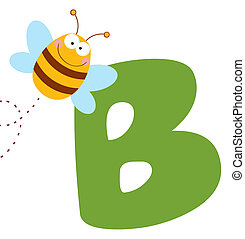 Bee With Letters B