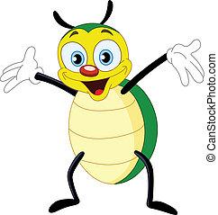 Cute happy beetle