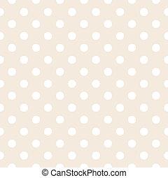 Beige vector background polka dots